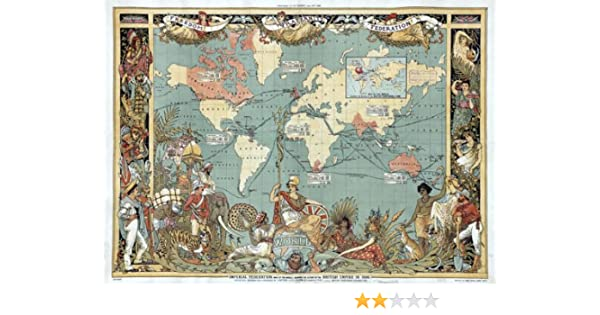 Mp11 vintage old 1886 british empire map of the world poster re mp11 vintage old 1886 british empire map of the world poster re print a1 841 x 610mm 33 x 24 amazon kitchen home gumiabroncs Images