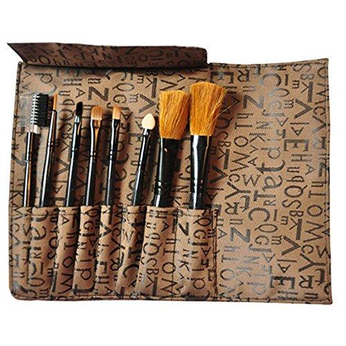 Vococal Pinceau de Maquillage Foundation Brush Sponge Bâton avec Trousse de Maquillage,Couleur Aléatoire