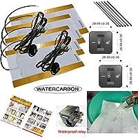 Water Carbon impermeabile 3file 1Retro quadrato fori di montaggio a