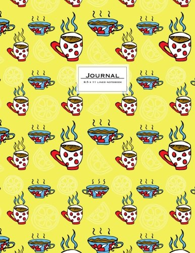 journal-85-x-11-lined-notebook-large-ruled-110-pages-yellow-teacups
