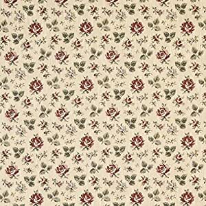 F909 or, vert, bordeaux et tissu d'ameublement tapisserie à fleurs en tissu