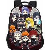 KIACIYA Mochila Anime Naruto, Grande Capacidad 3D Uchiha Sasuke Itachi Akatsuki Anime Cosplay Mochila Escolar Estudiante Bols