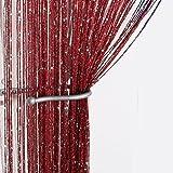Jazz Glitter String Curtain Panel (Wine)