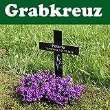 Grabkreuz inkl Wunsch Text - verschiedene Motive - Grabdekoration NEU - Motiv5