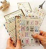 Set von 6 Sheets Craft Dairy Deco Aufkleber Papier Stempel Aufkleber Scrapbook Geschenk
