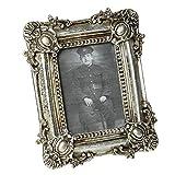 Bilderrahmen Antik Fotorahmen Barock Bilderhalter Rahmen silber Foto 7 x 9