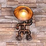 XIAOJIA Europäischen industriellen Stil Retro-Individualität kreative Eisen Rohr Lampe Schlafzimmer Flur Studie am Krankenbett Wandbeleuchtung