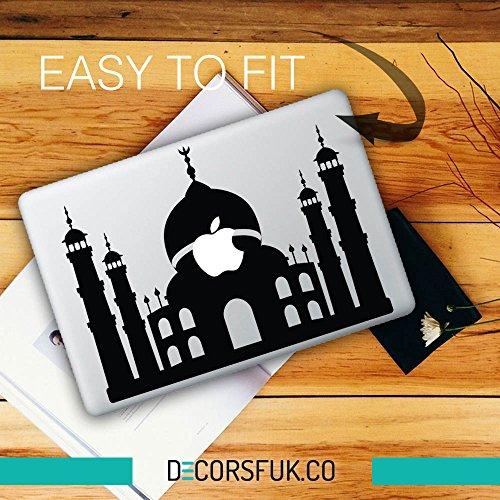 decorsfuk.co Taj Mahal MacBook Sticker-Aufkleber für MacBook-Schwarz Vinyl/Gebäude/Architektur