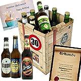 Geburtstagsgeschenke für Männer zum 30. - Bier Geschenk Box + gratis Geschenkkarten + Bierbewertungsbogen. Kulmbacher + Schlappeseppel + Löwenbräu + ...Bierset + Biergeschenk. Biergeschenke Geschenkideen. Besser als Bier selber machen oder selbst brauen: Geschenk 30 Geburtstagsgeschenke Geschenke für Männer Geschenkidee Geschenk Idee Geschenk für Freund 30 Präsentkorb 30 Geburtstag Geschenken Geschenke für Männer zum Geburtstag 30 Männer