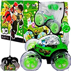 Ben 10 360 Stunt Car with Remote - Green ( Battery not Included )