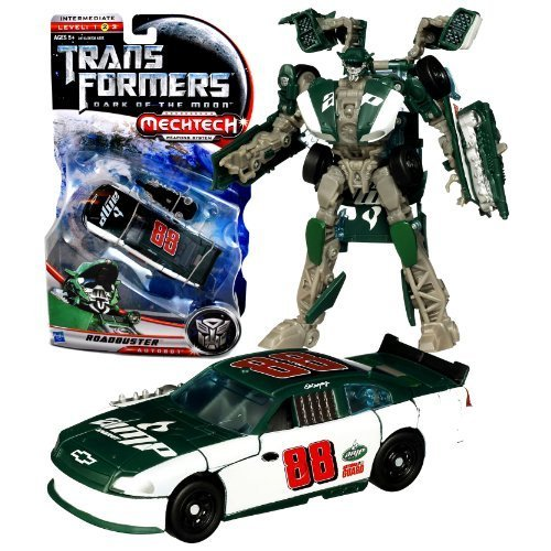 Hasbro Year 2010 Transformers Movie Series 3 Dark of the Moon Deluxe Class 6 Inch Tall Robot Action Figure with MechTech Weapon System - Autobot ROADBUSTER with Blaster that Converts to Assault Saw (Vehicle Mode: #88 Dale Earnhardt Jr. Track Race Car) by Transformers