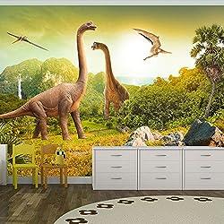 Fotomural 400x280 cm ! Papel tejido-no tejido. Fotomurales - Papel pintado 400x280 cm - ninos dinosaurio Animales 10110902-10