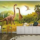 Fotomural 200x140 cm ! Papel tejido-no tejido. Fotomurales - Papel pintado 200x140 cm - ninos dinosaurio Animales 10110902-10