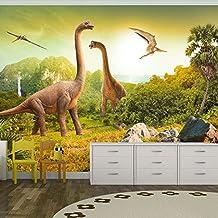 murando Fotomural 200x140 cm ! Papel tejido-no tejido. Fotomurales - Papel pintado 200x140 cm - ninos dinosaurio Animales 10110902-10