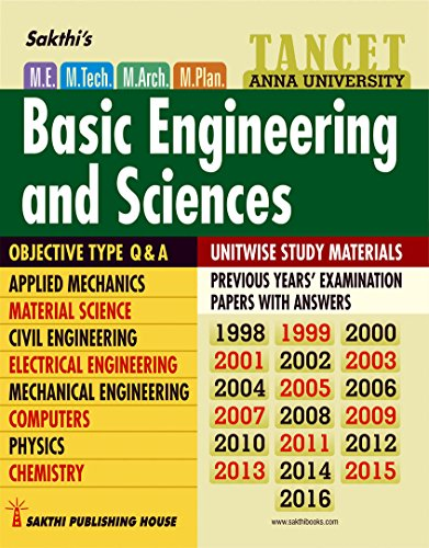TANCET M.E ENTRANCE - BASIC ENGINEERING AND SCIENCES