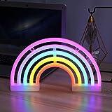 Luci al neon LED Arcobaleno Insegne al neon, Rainbow neon Sign Night Lights Utilizzato per decorare stanze dei bambini, Natal