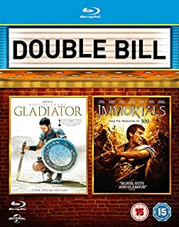 Gladiator / Immortals (Double Pack) [Blu-ray] [Region Free] (B00MCKN850) | Amazon price tracker / tracking, Amazon price history charts, Amazon price watches, Amazon price drop alerts