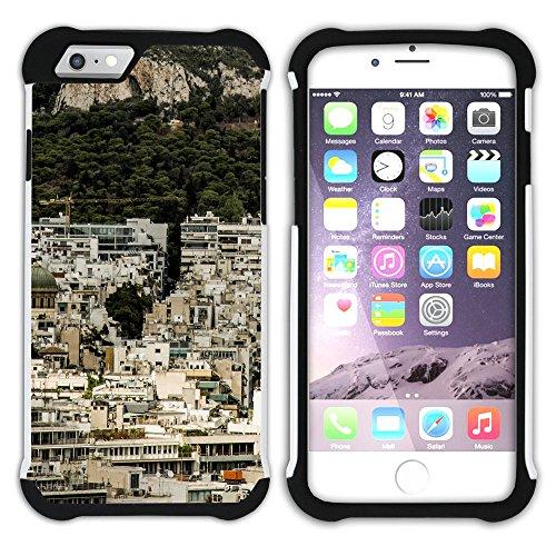 Graphic4You Athen Griechenland Postkarte Aussicht Hart + Weiche Kratzfeste Hülle Case Schale Tasche Schutzhülle für Apple iPhone 6 / 6S Design #9