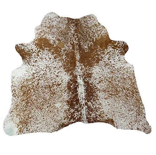Zerimar Tapis Peau de Vache Naturalle Premium   MESURES: 170x170 cms 2.38 m²   Tapis Salon   Tapis Chambre   Tapis Decoration Salon
