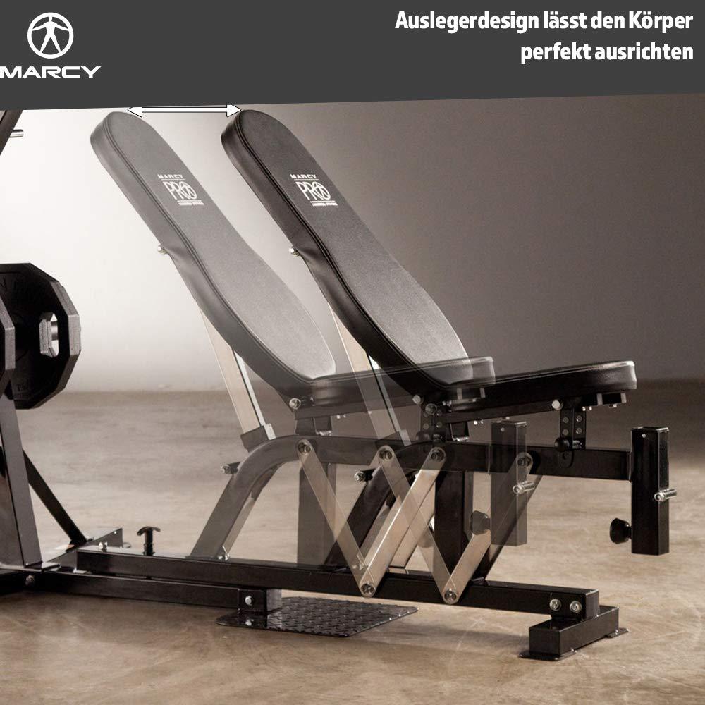 Marcy Pm4400 Pro Banc De Musculation A Domicile Noir Fitness