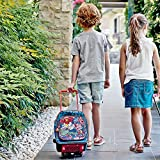 PERLETTI Marvel Comics kids trolley – upright suitcase with wheels and shoulder straps for kindergarten and primary school with Spider-man, Hulk and other Marvel Comics characters