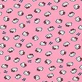 Fabulous Fabrics Jersey Hello Kitty 2 – pink — Meterware ab 0,5m — zum Nähen von Kinderbekleidung und Nachtwäsche