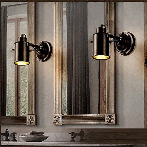 Preisvergleich Produktbild BAYTTER Vintage E27 Wandlampe schwenkbare Flurlampe 7W LED warmweiß Strahler Industrielampe für Café Keller Bar Flur Küchen Büro Schlafzimmer