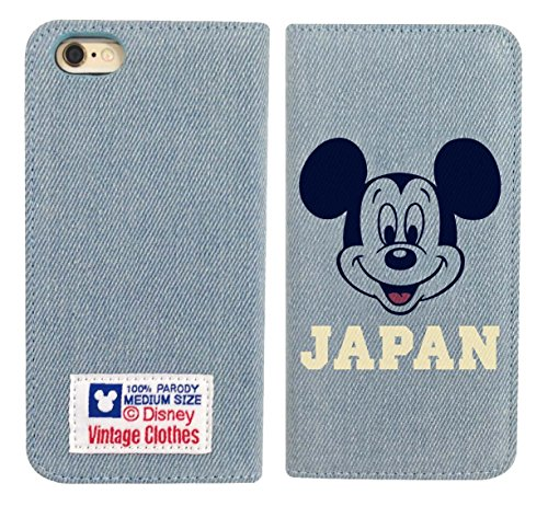 4536219828914 Mickey Mouse iPhone 6 denim flip cover - Phone Japan Cover