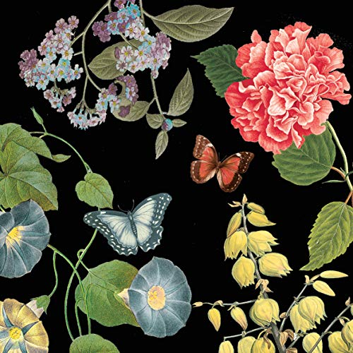 Home Collection Servietten (2er Set / 40Stück) 3-lagig 33x33cm Schmetterlinge Victoria Garden Black