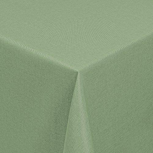 Tischdecke in Leinen-Optik - Outdoor- bzw. Gartentischdecke - Ideal für Garten oder Terrasse Eckig 130x190 cm lindgrün (Outdoor-optik)
