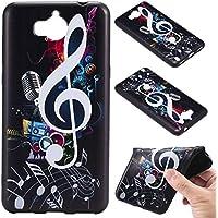 Qiaogle Teléfono Caso - Funda de TPU silicona Carcasa Case Cover para Huawei Y5 2017 / Y6 2017 (5.0 Pulgadas) - KT69 / Musical Note