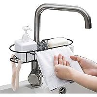 Baffect Porte-éponge de cuisine en métal organisateur de lavabo Range-panier, porte-éponge pour vaisselle, support de…