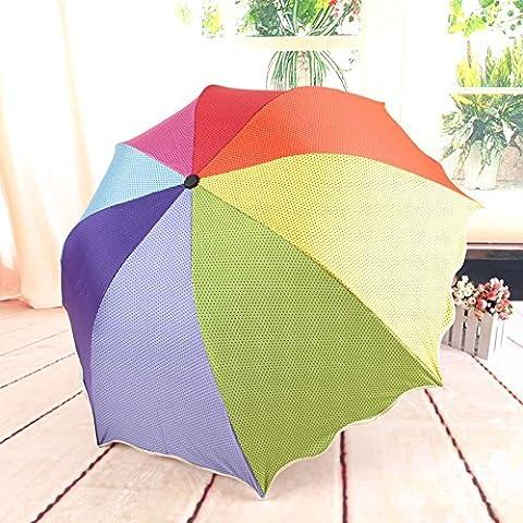 Paraguas arco iris Apolo plegable paraguas negros paraguas de pl¨¢stico , color mixing