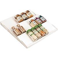 mDesign support à épices pour tiroir – range épice extensible de 20 cm jusqu'à 36,8 cm – présentoir à épice pour tiroir…