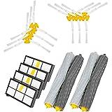 Powilling Zubehör Sets für IRobot Roomba 800 805 860 861 870 871 880 885 890 900 960 980 Ersatzteile Bürsten Filter