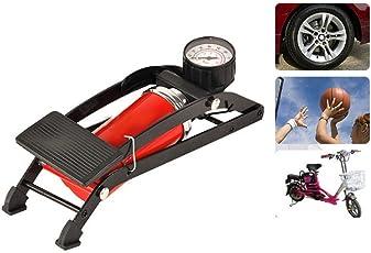 Diswa High Pressure Air Pump Mini Portable Inflator Machine, Standard (Foot Pump_04, Multicolour)