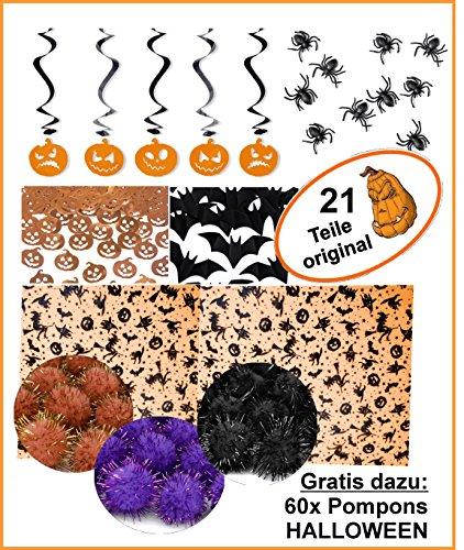 Feste Feiern Halloween Deko I 21 Teile Spinnennetz -