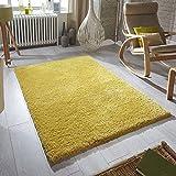 Oriental Weavers suavidad Shaggy alfombra, 4tamaños, color mostaza, amarillo mostaza, 60cm Width x 120cm Length