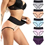 Fulyou Womens Knickers High Rise Cotton Underwear Tummy Control Full Briefs Soft Stretch Ladies Cotton Underpants Full Covera