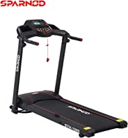 Sparnod Fitness STH-1000 (3 HP Peak) 100% Pre-Installed Foldable Portable Motorized Running Treadmill for Home Use Automatic