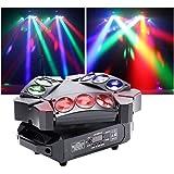 U'King Mini 9 Head Bird Discolamp 60W RGB Mini Spin Podium Beam Licht kan elke lampkraal afzonderlijk bedienen en DMX-geluid