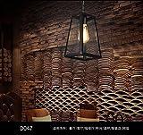 ShengYe stile rustico plafoniera lampada a sospensione Loft bar Retro lampadario nel mezzo della strada, il ristorante scala industria balcone lo slittamento di vetro lampadario di testa 170*140*265 mm