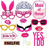 #9: Discount Retail Hand Made Bachelorette Party Photo Booth Props (16 Pieces)