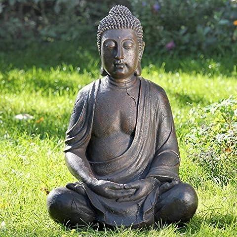 ENORME BUDDHA FIGURA 100cm ALTEZZA ANCHE PER IL ESTERNI STATUA SCULTURA