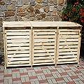 Pötschke Ambiente Erweiterung Mülltonnenbox Vario III, natur von Pötschke Ambiente - Du und dein Garten