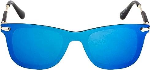 Blue mercury singla body lense Wayferer style sunglasses for men's and women's