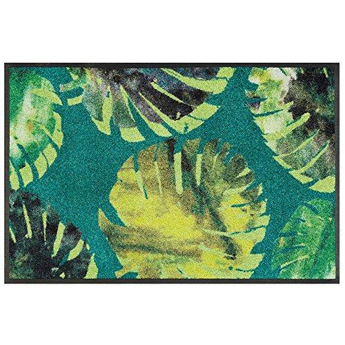 Wash+Dry Tapis, Surface en Polyamide, Vert, 50 x 75 cm