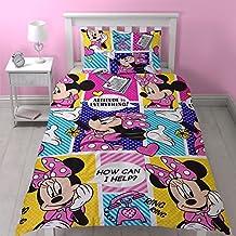 Disney juego de edredón simple de Minnie Mouse con diseño de impresión repetido, multicolor