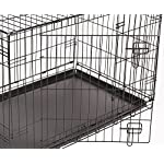 RAC Dog Puppy Cage Folding 2 Door Crate with Plastic Tray Large 36-inch Black (Large) 8