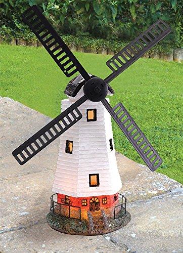 Solalite Dekofigur für den Garten, mit LED-Beleuchtung, solarbetrieben, Design Windmühle